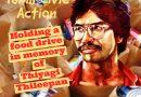 Tamil Civic Action-Holding a food drive in memory of Thiyagi Thileepan 2021