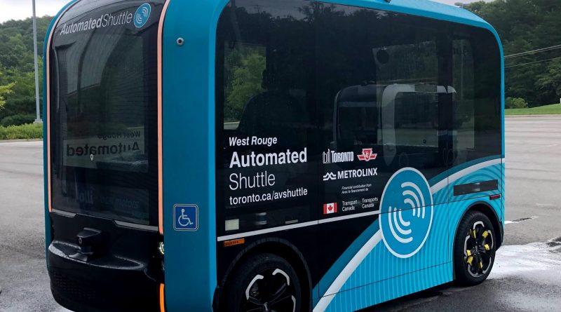 Toronto's self-driving   Automated Shuttle  Test Run