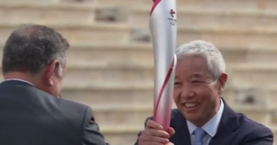OLYMPIC FLAME OFFICIALLY HANDED OVER TO BEIJING 2022 TO BEGIN ITS JOURNEY TO CHINA